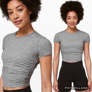 Lululemon All it Takes Short Sleeve Stripe Crop